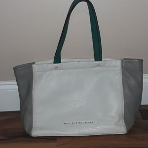 Marc Jacobs Leather White, Gray, Green Bag